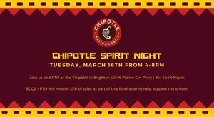 Chipotle Spirit Night