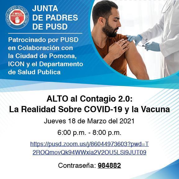 ALTO al Contagio 2.0:  La Realidad Sobre COVID-19 y la Vacuna
