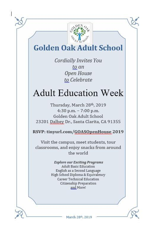 Poster for Adult Education Week