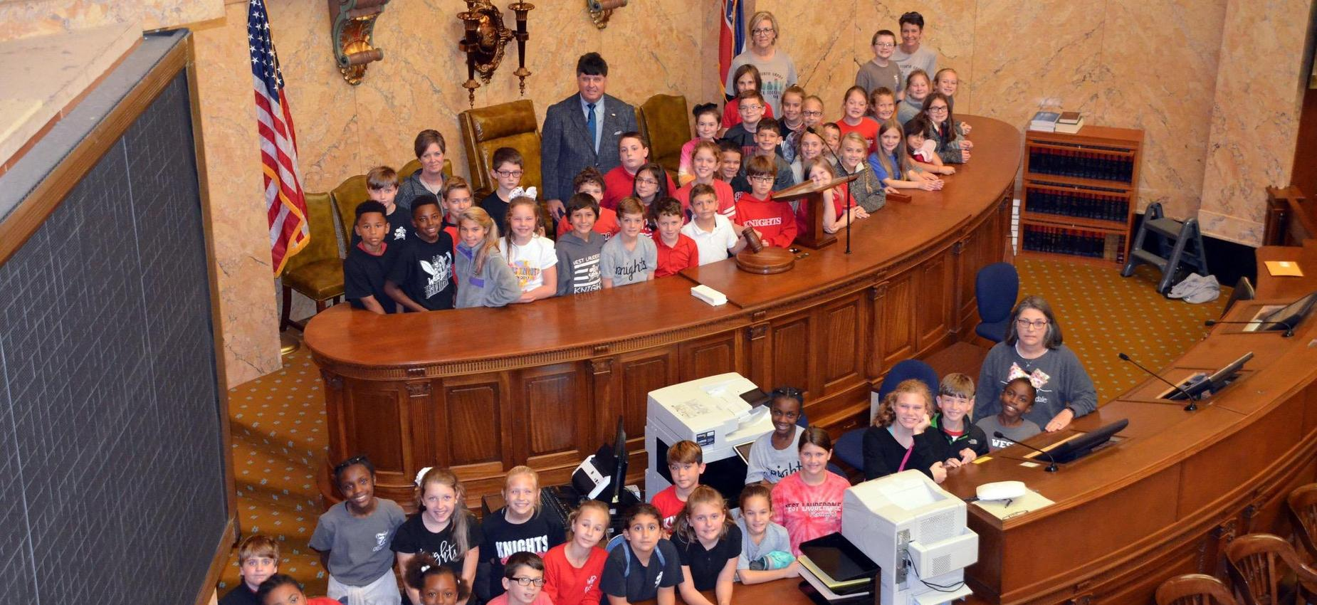 WLE Students at the Capitol