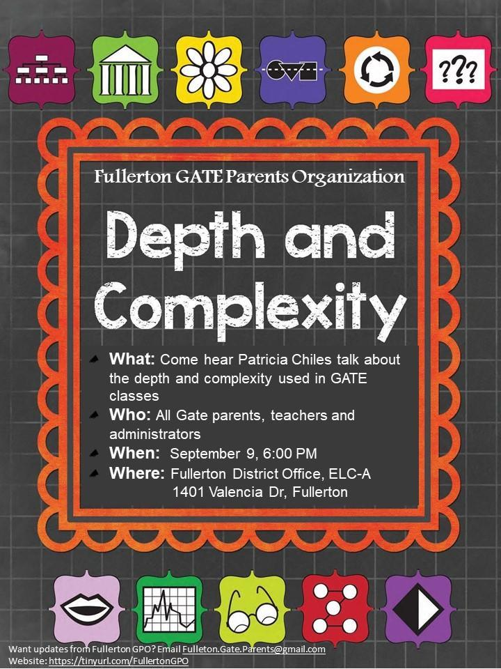 Depth and Complexity Flyer