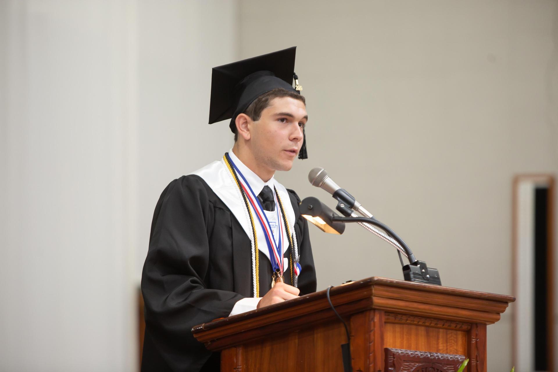 Julen Lujambio, 2019 valedictorian