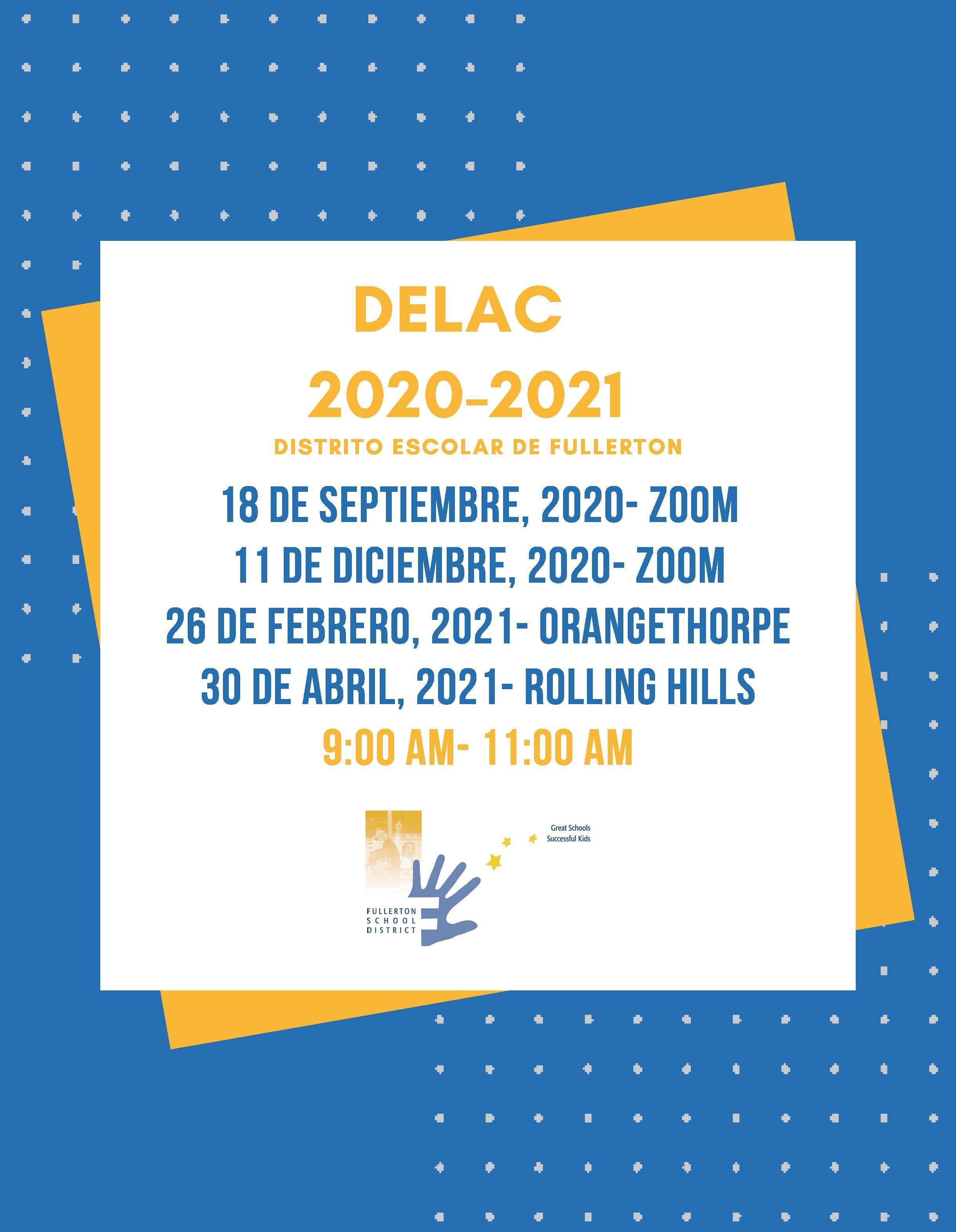 DELAC 20-21 Dates Spanish