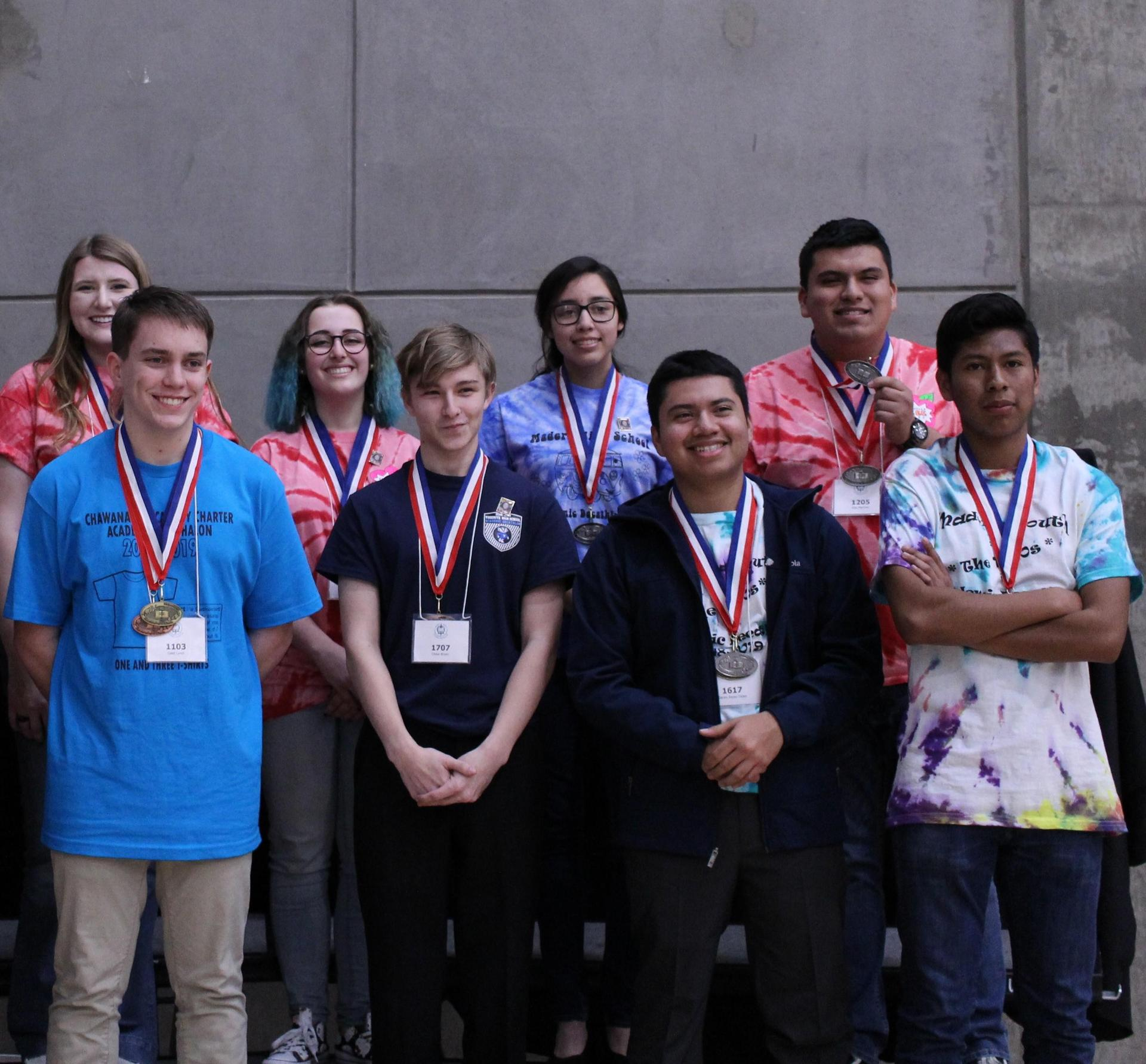 Economics: Kylie Farmer, Honors Silver Medalist; Madison Ingraham, Honors Gold Medalist; Alan Martinez, Scholastic Silver Medalist