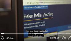 The launch of the #HelenKellerArchive ! This video shows @AFB1921 archivist Helen Selsdon at NYISE helping students navigate this incredibly accessible archive!