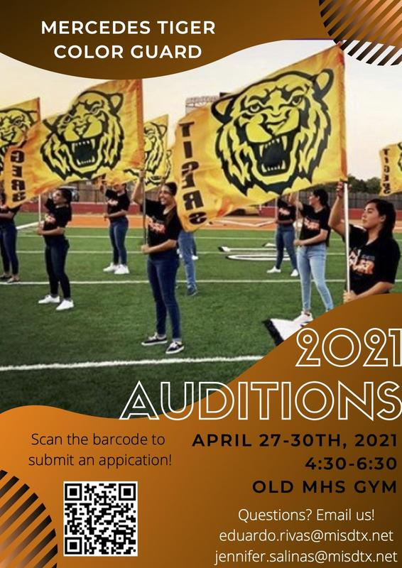 2021 Color Guard Auditions | Click to learn more Featured Photo