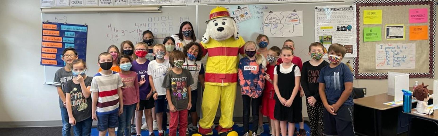 sparky visits class