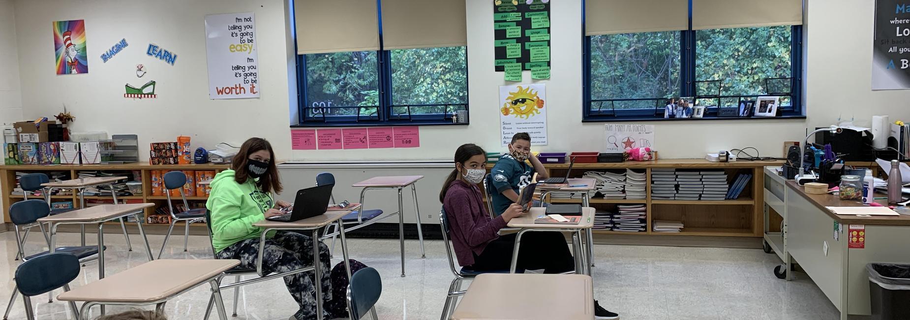 Students enjoying ELA class