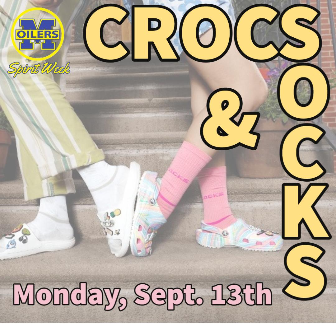 crocs with socks