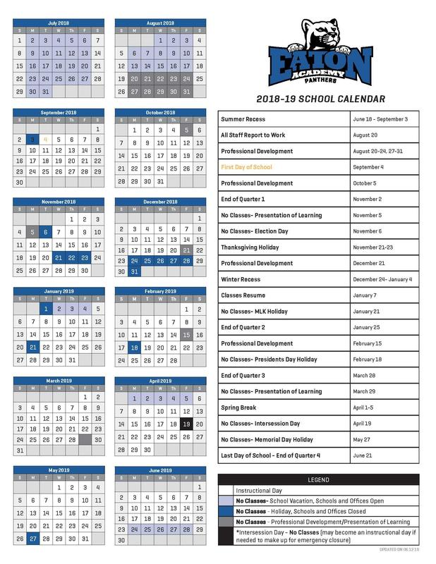 Find you school year 2018-2019 calendar here!