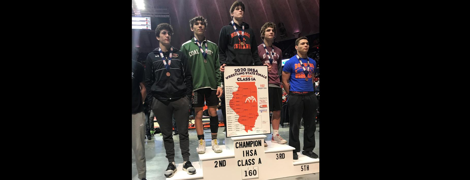 2nd place - individual wrestling state