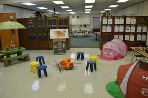 Kindergarten set-up for Reading Night.