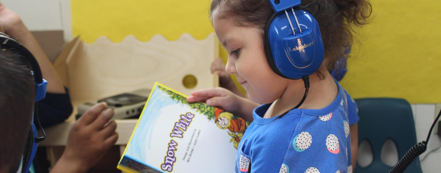 Girl with Audio Book