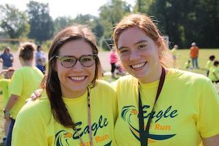 MCS faculty members at the Eagle Fun Run