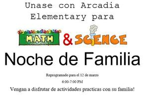 Math and Science Family Night (Spanish)