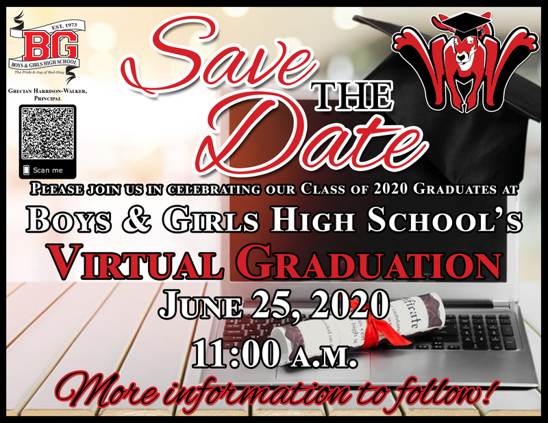 Save The Date - BGHS Virtual Graduation