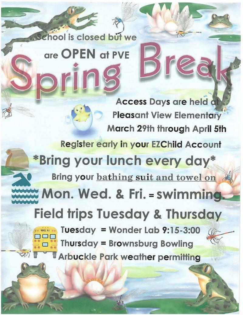 Spring Break Access Days Thumbnail Image
