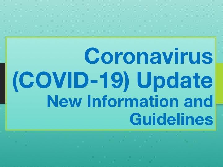 CORONAVIRUS (COVID-19) PRECAUTIONS UPDATE Featured Photo