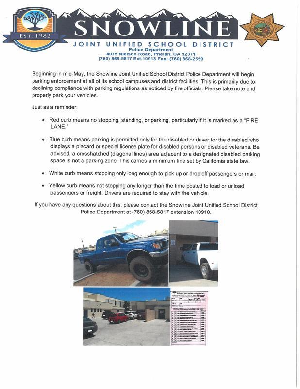 Parking Enforcement for Snowline Featured Photo