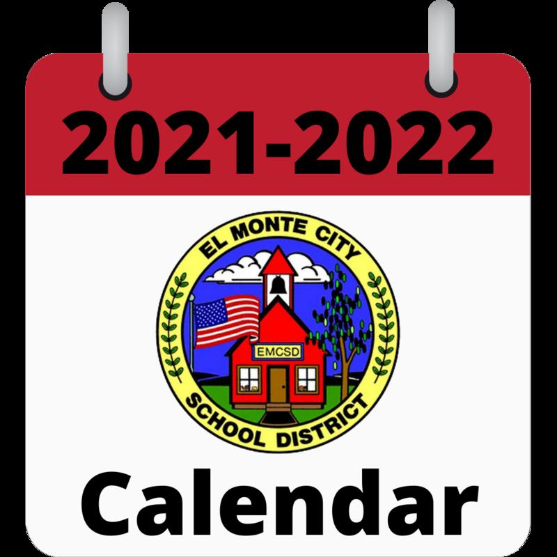 Graphic that says: 2021-2022 EMCSD Calendar