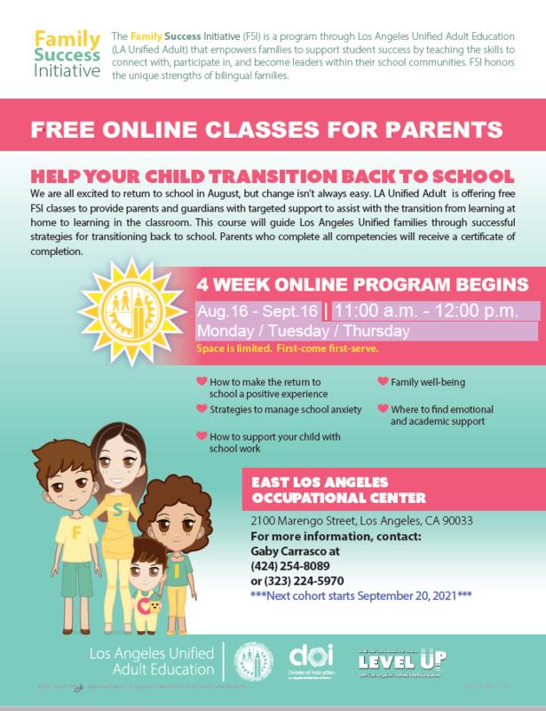ONLINE CLASS FOR PARENTS FSI