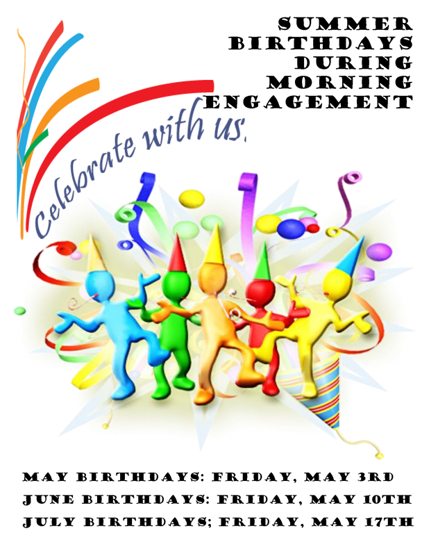 Summer birthdays informational graphic