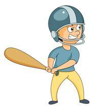 clipart of baseball player