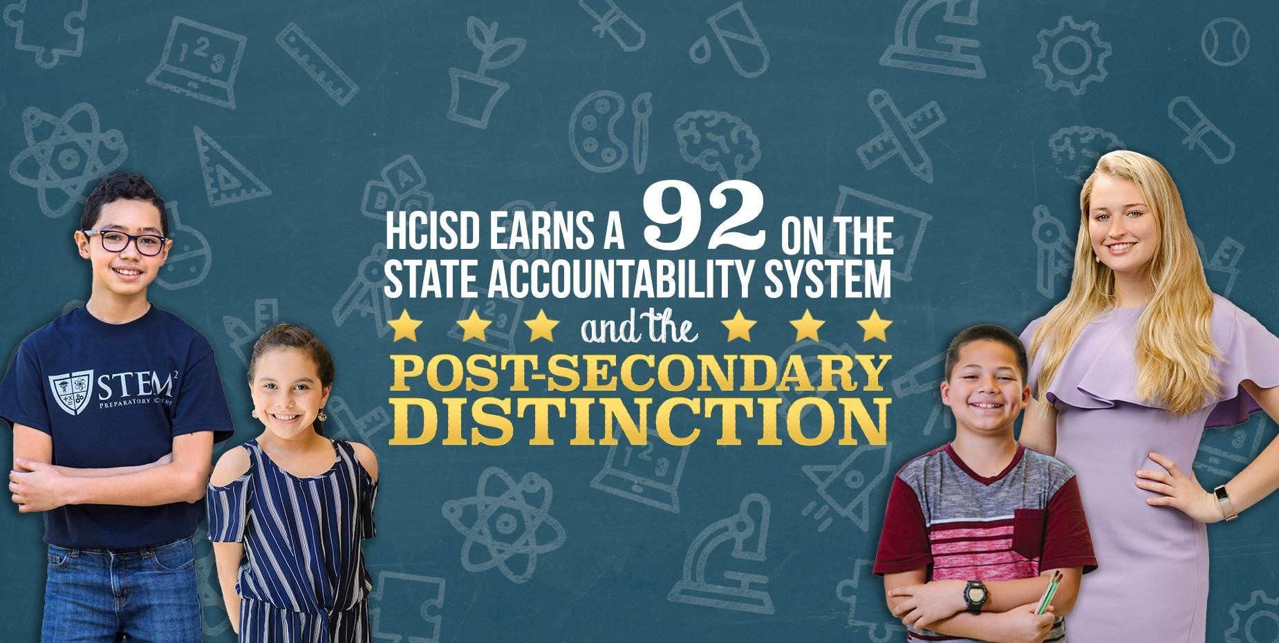HCISD earns post-secondary distinction and 92