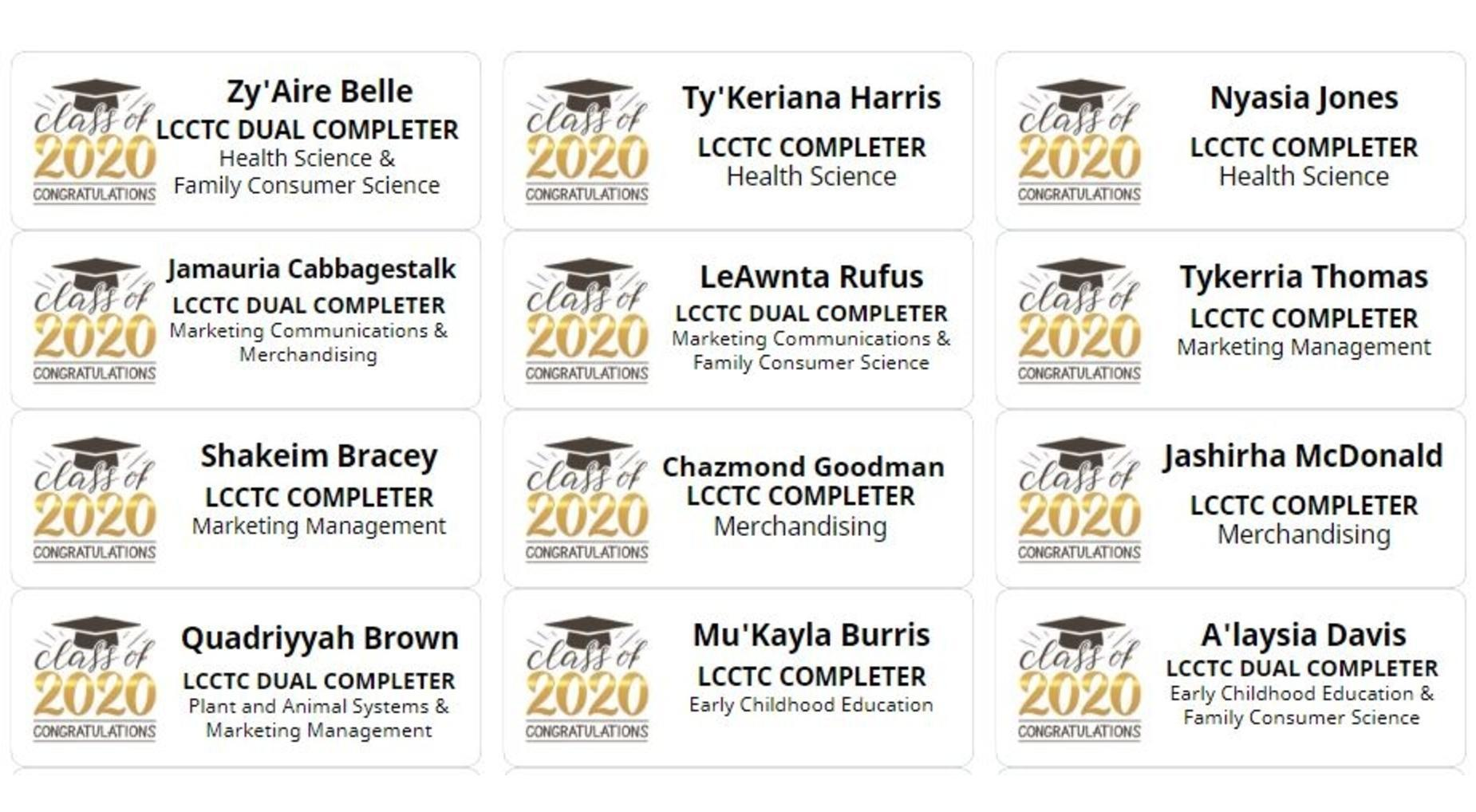 LCCTC 2020 Completers