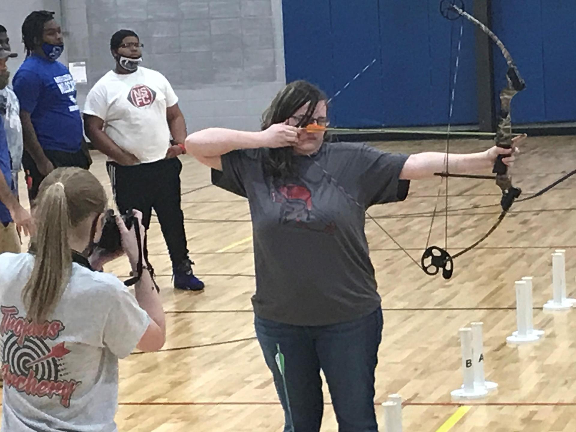 NEHS Archery Athlete