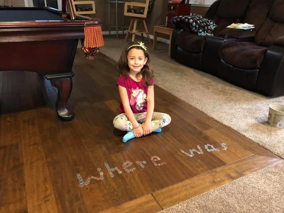 A student spells out her sight words