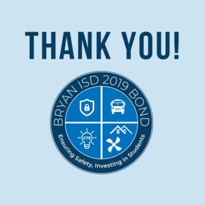 THANK YOU! 2019 Bond