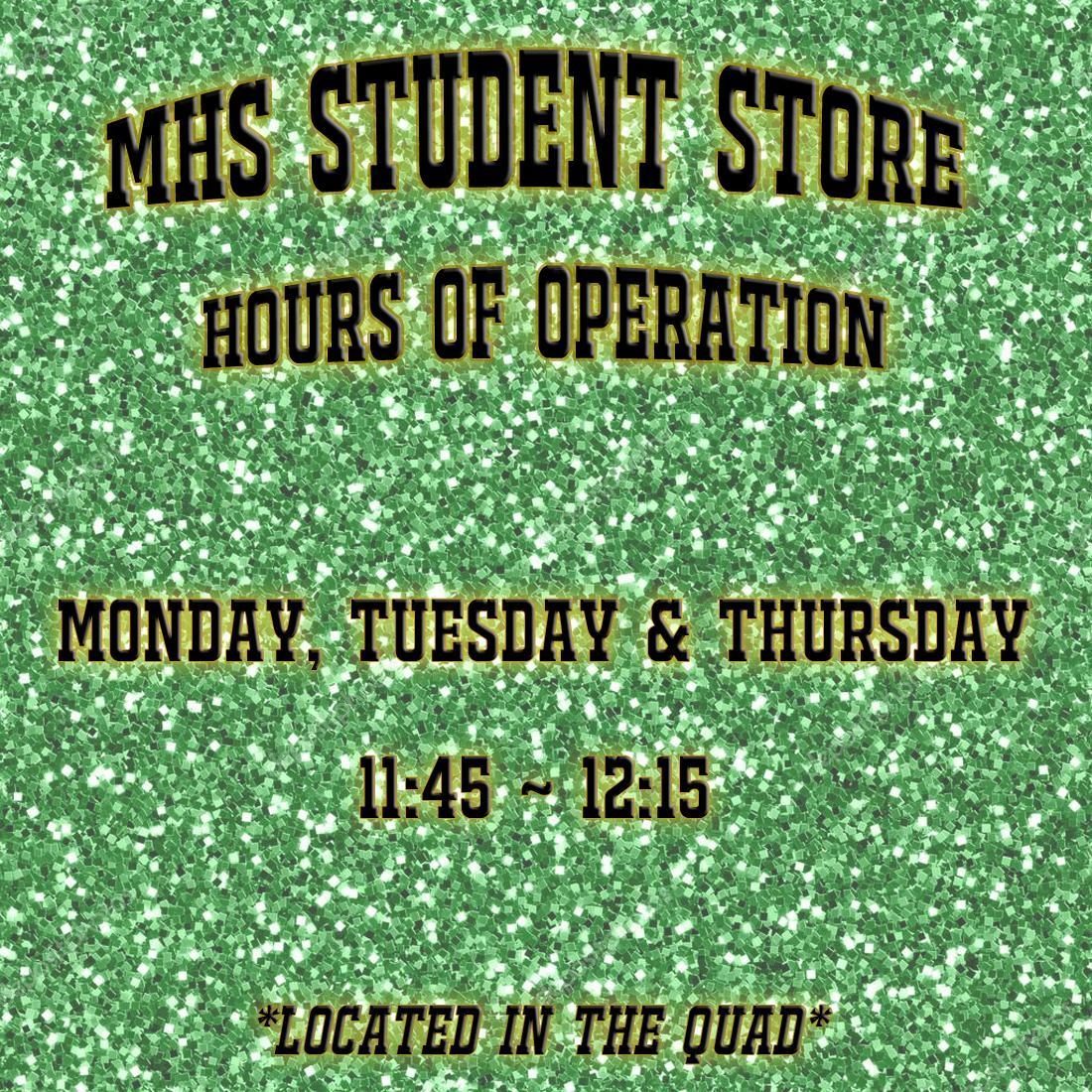 Student Store Hours