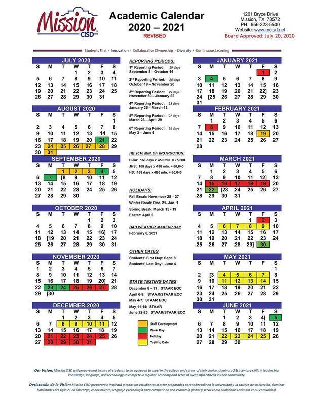 New 2020-2021 School Calendar Approved Featured Photo