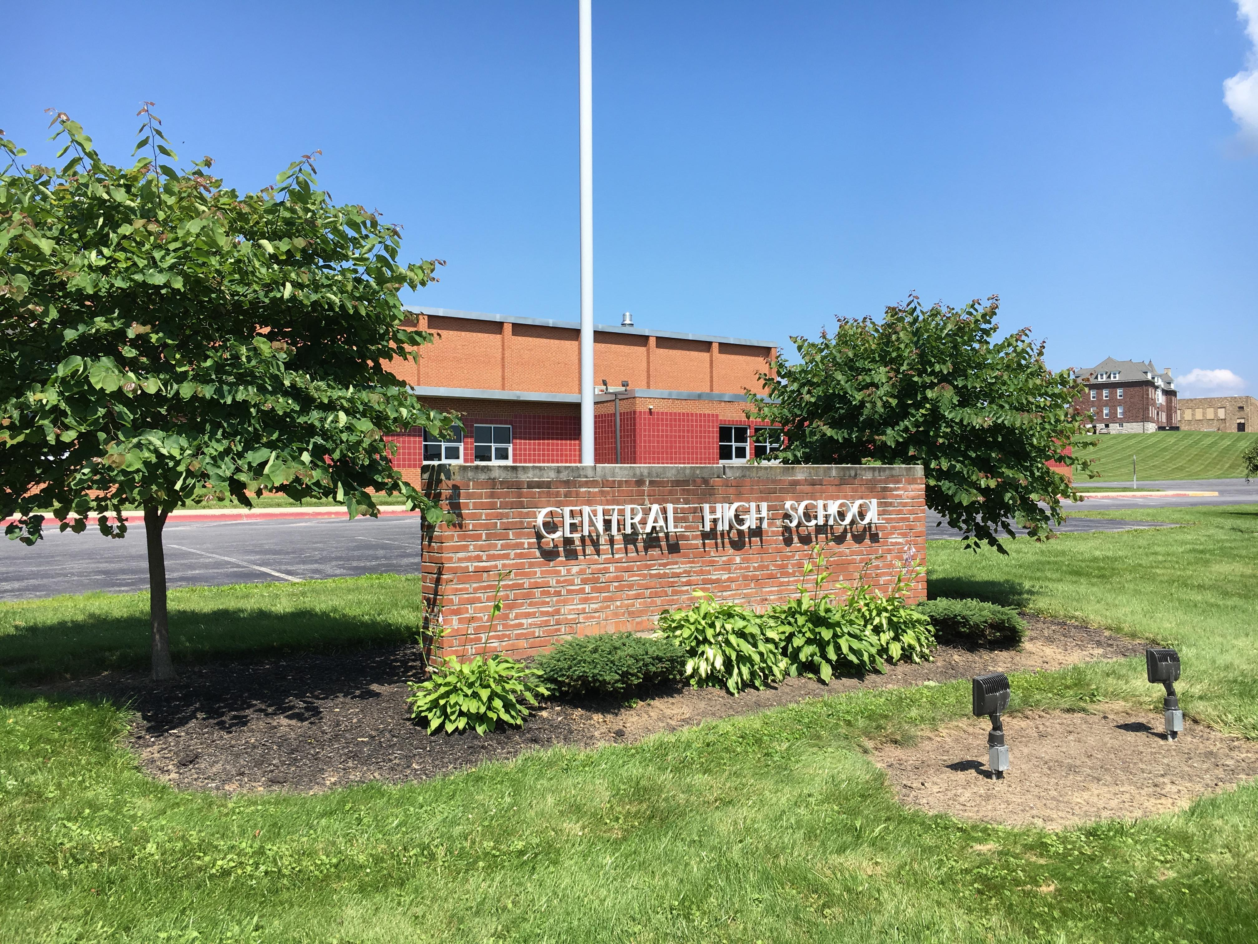 Central High School Sign at Front Entrance