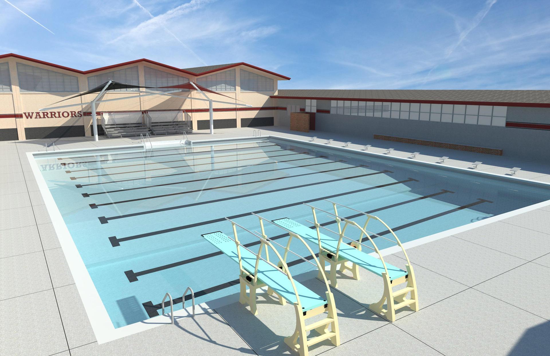 new swimming pool