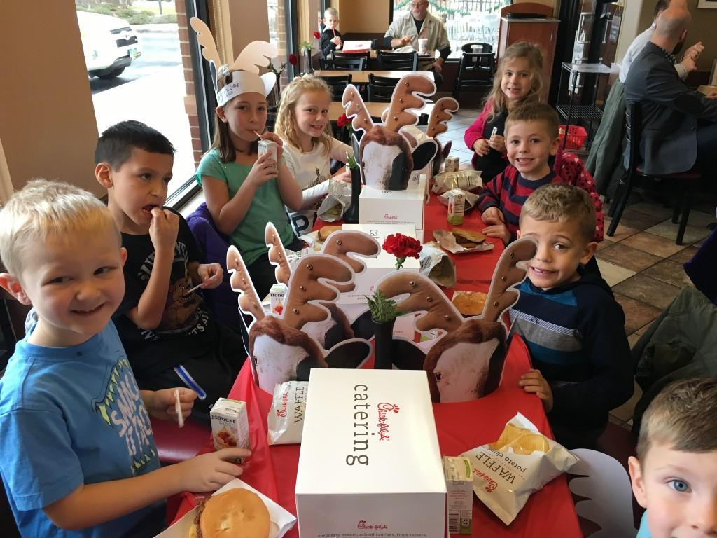 Fall Fundraiser Limo Ride Reward and Chic-fil-a lunch