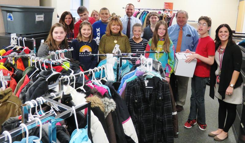 Classmates Care received a large donation from Thornapple Financial Center and Money Concepts to continue their efforts to provide warm winter clothing items to  TK students in need.