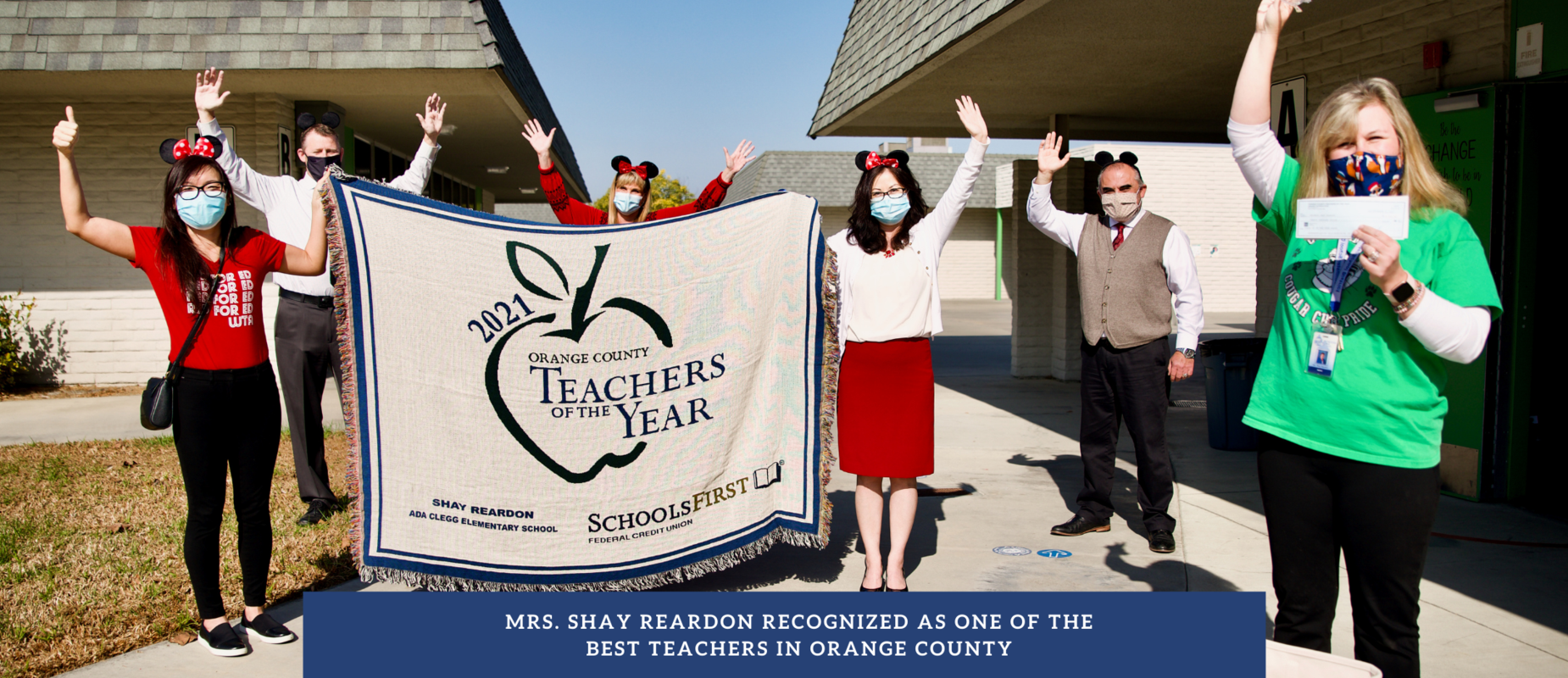 Mrs. Shay Reardon celebrated as one of Orange County's Teacher of the Year winner