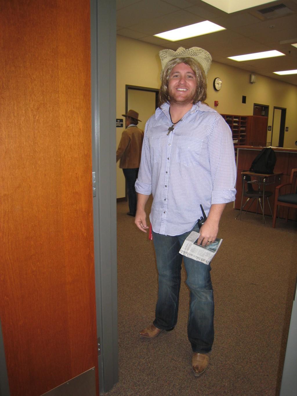 Mr Kaylor dressed up