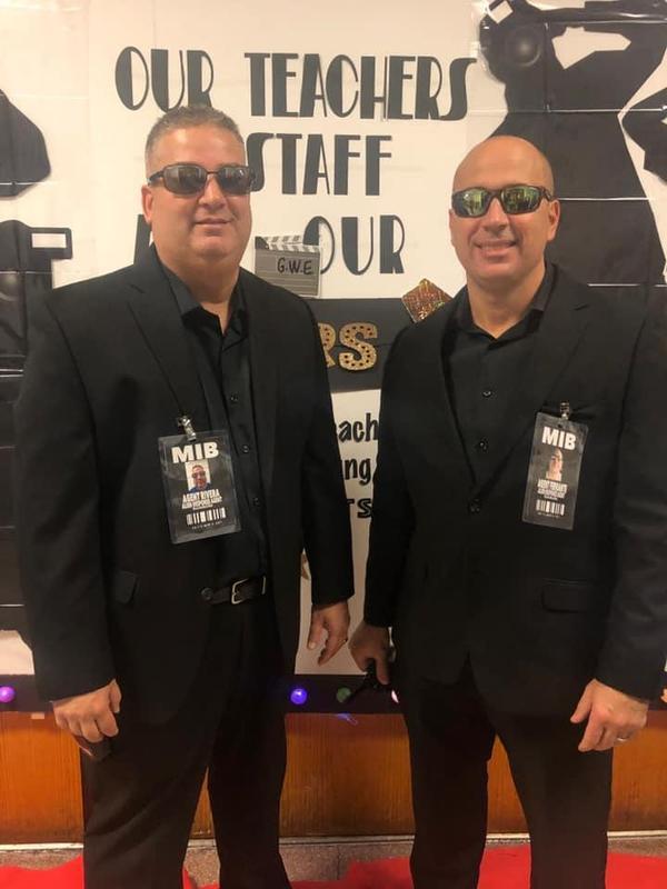 Mr Rivera and Mr Ferrante as MIB agents