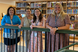 photo of four new faculty staff members at OLSH