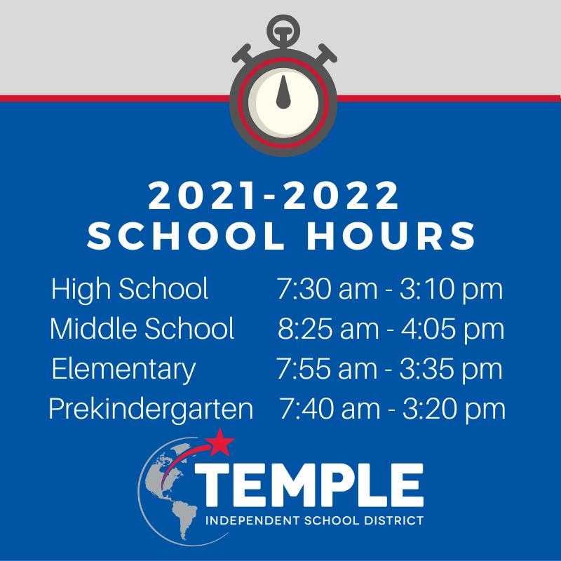 2021-2022 School Hours Featured Photo