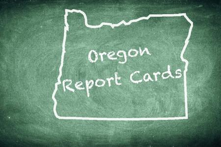 State Report Card Chalkboard Illustration