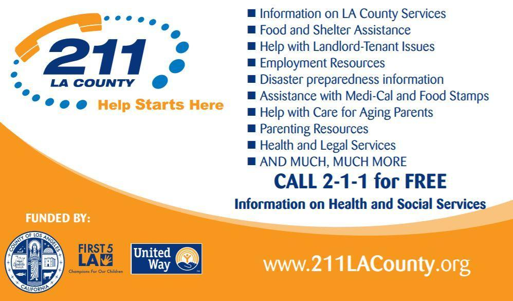 Call 211 for Health and Social Services