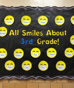 Photo of bulletin board saying