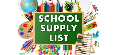 School Supply Lists TK/K-5 Thumbnail Image
