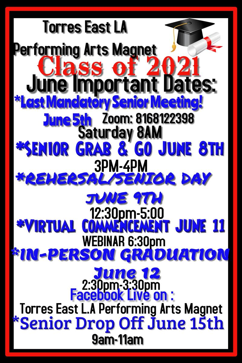 IMPORTANT DATES IN JUNE FOR SENIORS! Featured Photo