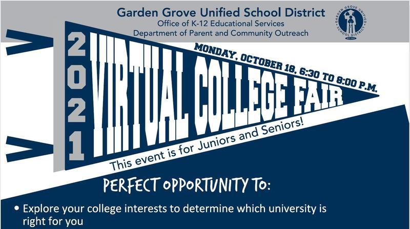 GGUSD's Virtual College Fair Featured Photo