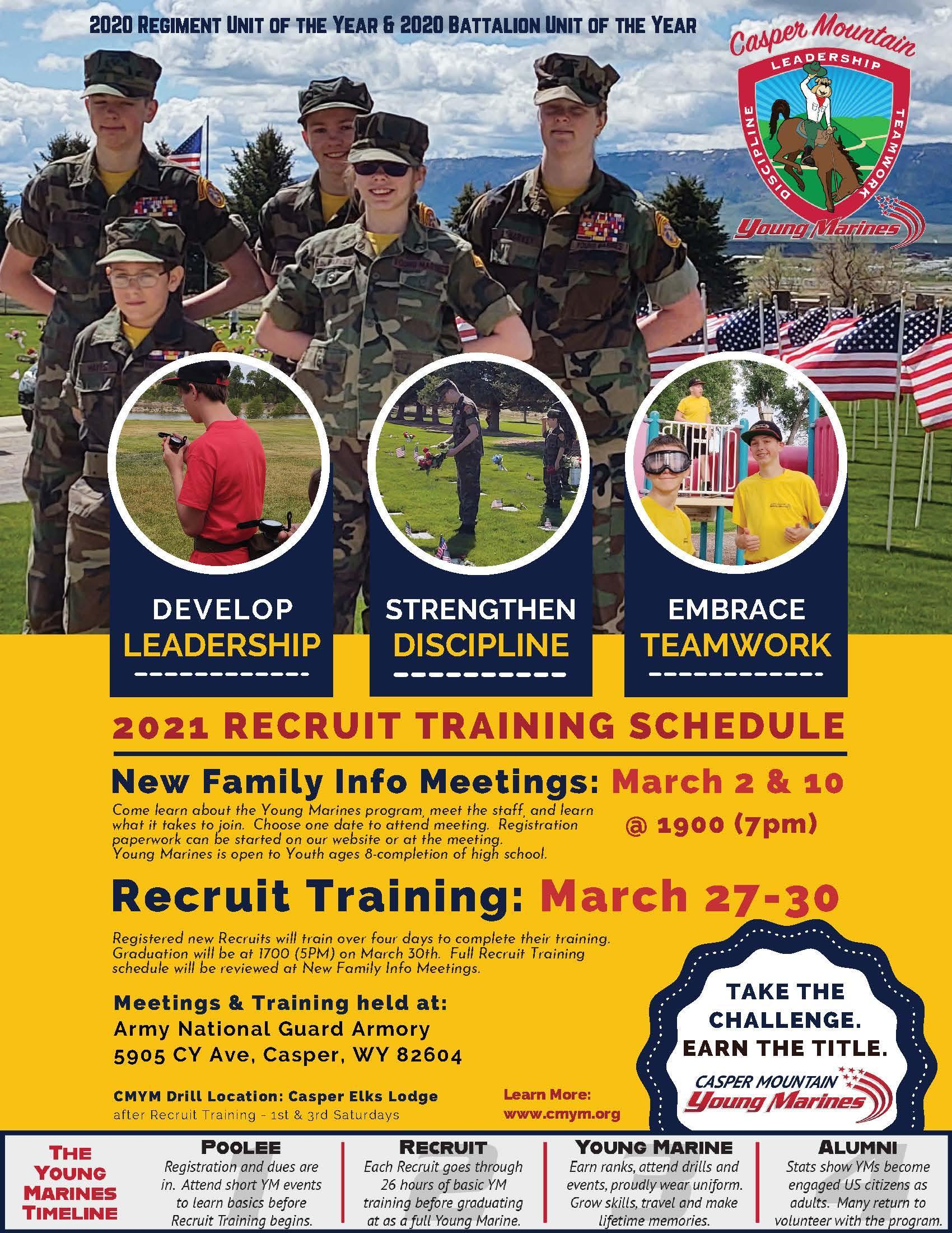 Casper Mountain Young Marines recruitment flyer